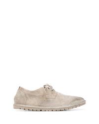 Chaussures derby en daim grises Marsèll