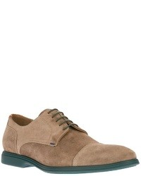 Chaussures derby en daim marron clair