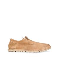 Chaussures derby en daim marron clair Marsèll