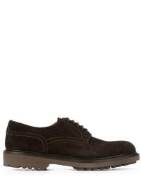 Chaussures derby en daim marron foncé Doucal's