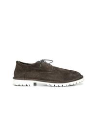 Chaussures derby en daim marron foncé Marsèll