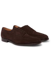 Chaussures derby en daim marron foncé Tricker's
