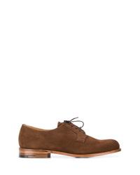 Chaussures derby en daim marron Church's