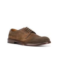 Chaussures derby en daim marron Doucal's