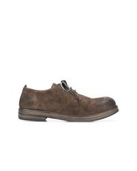 Chaussures derby en daim marron Marsèll
