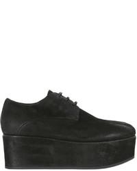 Chaussures derby en daim noires
