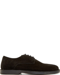 Chaussures derby en daim noires Ann Demeulemeester