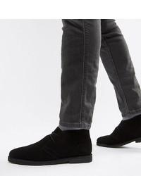 Chaussures derby en daim noires ASOS DESIGN