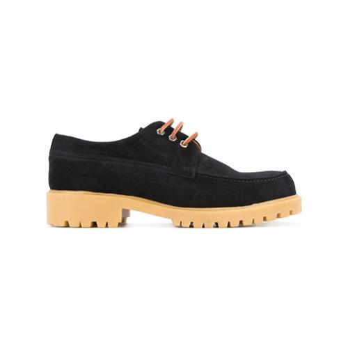 Chaussures derby en daim noires Cerruti 1881