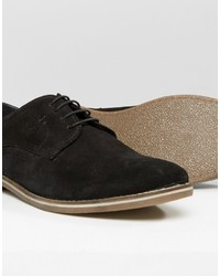 Chaussures derby en daim noires Red Tape
