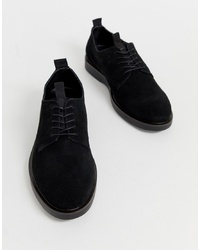 Chaussures derby en daim noires H By Hudson