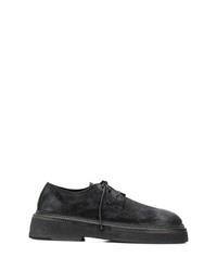 Chaussures derby en daim noires Marsèll