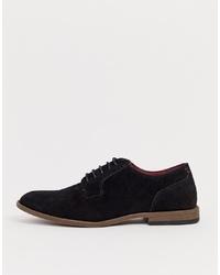 Chaussures derby en daim noires New Look