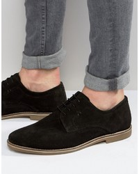 Chaussures derby en daim noires Red Tape