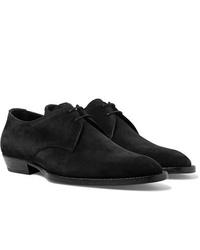 Chaussures derby en daim noires Saint Laurent