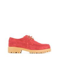 Chaussures derby en daim rouges Cerruti 1881