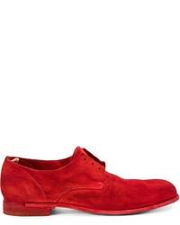 Chaussures derby en daim rouges Officine Creative