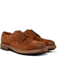 Chaussures derby en daim tabac Brunello Cucinelli