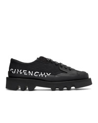 Chaussures derby en toile noires Givenchy