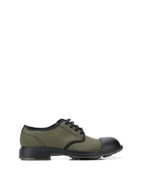 Chaussures derby en toile olive