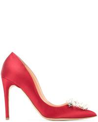 Chaussures en soie rouges Rupert Sanderson