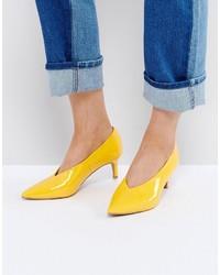 Chaussures jaunes Asos