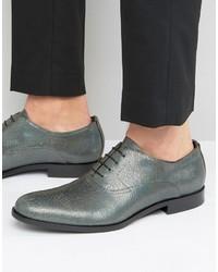 Chaussures richelieu argentées Hugo Boss