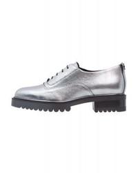 Chaussures richelieu argentées Max Mara