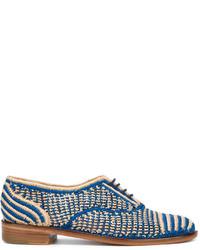 Chaussures richelieu bleues Robert Clergerie