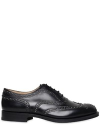 Chaussures richelieu en cuir à clous noires
