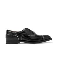 Chaussures richelieu en cuir à clous noires Church's