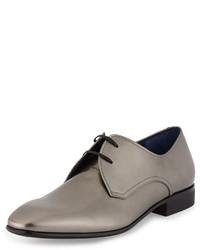 Chaussures richelieu en cuir argentées