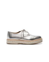 Chaussures richelieu en cuir argentées Church's