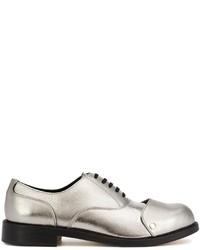Chaussures richelieu en cuir argentées Comme des Garcons