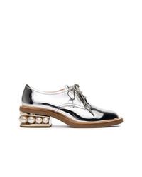 Chaussures richelieu en cuir argentées Nicholas Kirkwood