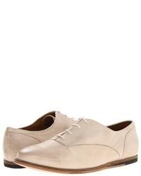 Chaussures richelieu en cuir beiges