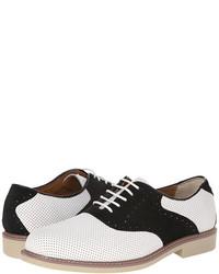 Chaussures richelieu en cuir blanches et noires