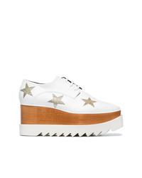 Chaussures richelieu en cuir blanches Stella McCartney