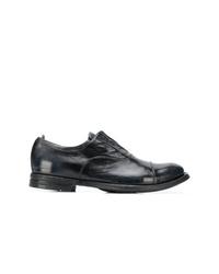 Chaussures richelieu en cuir bleu marine Officine Creative