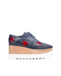 Chaussures richelieu en cuir bleu marine Stella McCartney