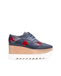 Chaussures richelieu en cuir bleues marine Stella McCartney
