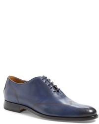 Chaussures richelieu en cuir bleues