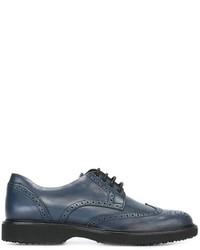 Chaussures richelieu en cuir bleues Hogan