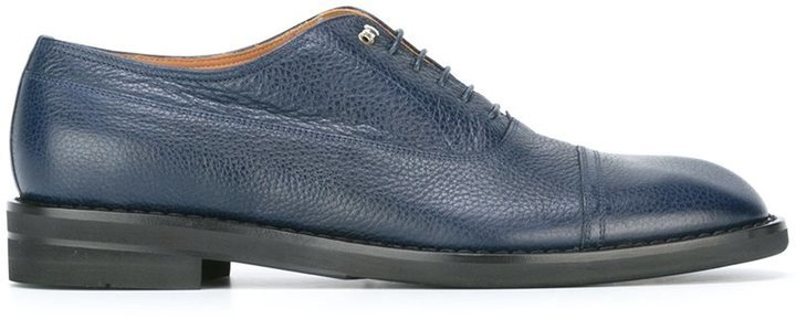 Chaussures richelieu en cuir bleues Maison Margiela
