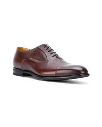 Chaussures richelieu en cuir bordeaux Fabi