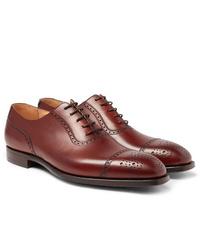 Chaussures richelieu en cuir bordeaux George Cleverley