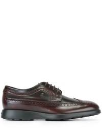 Chaussures richelieu en cuir bordeaux Hogan