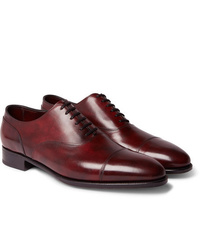 Chaussures richelieu en cuir bordeaux John Lobb