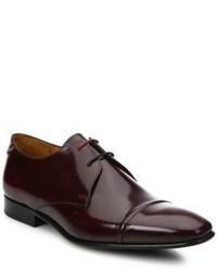 Chaussures richelieu en cuir bordeaux Paul Smith