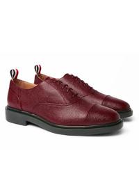 Chaussures richelieu en cuir bordeaux Thom Browne